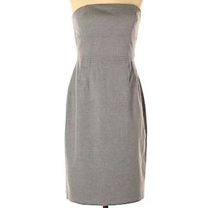 Banana Republic strapless gray dress size 8